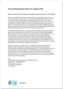 Pressemitteilung Düsseldorf